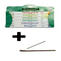 Stamford Aromatherapy Incense Sticks 6 Pack Gift Set With Wooden Incense Holder