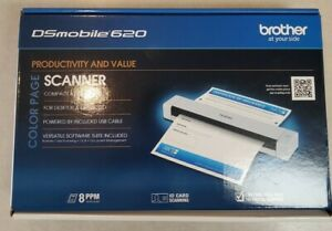 Brother DSmobile 620 Compact Mobile Color Scanner Card Scan new open box