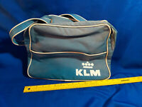 KLM Airlines Dutch BAG Carryon MOD VTG Aviation Mid Century Rare Blue White