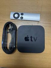 Apple TV 3rd Gen A1469 Unit + Power Cord + Silver Remote