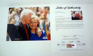 President Bill Clinton Signed Autograph 8x10 Photo PSA/DNA COA