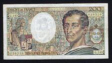Francia / France - 200 francs Montesquieu 1992 BB/VF  A-07