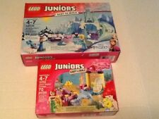 LOT OF 2 GIRLS JUNIORS LEGO SETS +100 FREE PIECES USED COOL COLORS LEGO PIECES