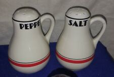 Vintage BIG Ceramic BOWLING PIN Salt & Pepper Shakers NO STOPPERS