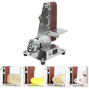Electric Belt Sander Cutter Mini Grinder DIY Polishing Machine Edges Sharpener