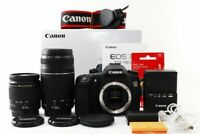 Canon EOS 70D 20.2MP 28-80/75-300mm Lens Set [Exc+++] w/Box,8GB SD,Strap [jkh]