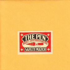 VINTAGE Match Matchbox Label DEEP RICH COLOR The Pen Safety Best B1