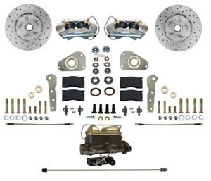 57-68 Ford/Merc Full Size Leed Brakes Front Manual Disc Brake Kit (D&S rotors)