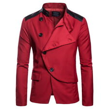 Personality Single Breasted Jacket For Men - Red