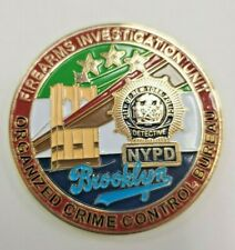Original Organized Crime Bureau Brooklyn  NYPD Police Challenge Coin Detective