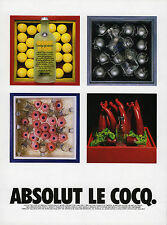 Vintage Absolute Le Cocq Vodka Ad Art in America Magazine Print 1991