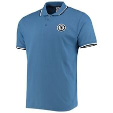 Chelsea FC Official Men's Core Tipped Polo Shirt - Blue - New