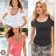 Women's Scoop Neck No Pattern Short Sleeve Sleeve Cotton Blend Tops & Shirts