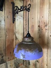 Industrial Retro Vintage Lamp Fitting & Shade Metal Distressted Look