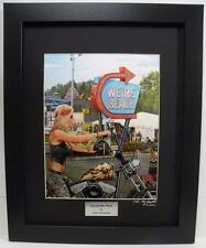 Laconia Lady Biker on Harley Ltd Edition Signed Framed Motorcycle Art by JohnG