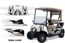 EZ Go Golf Cart Graphic Kit Wrap Parts AMR Racing Decal 96-10 TRIBAL FLAME WHITE