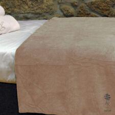Couvertures lavable en machine beige pour le lit Chambre à coucher