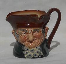 """Vintage 1942 Royal Doulton Small 3 1/4"""" Old Charley Character Jug Mug"""