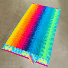 "Rainbow Stripe Surf Bus Palm Spa Ocean Beach Towel 40""x 72"" by Resort Living"