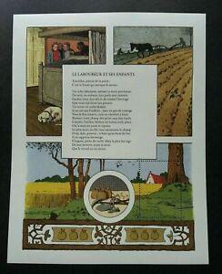[SJ] France Folk Story Farmer & His Children (sheetlet) MNH Dog Bird *vignette