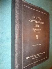 1928-1933 DeSOTO MASTER PARTS CATALOG / RARE ORIGINAL DESOTO BOOK 29 30 31 32