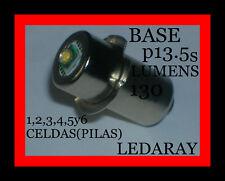 BOMBILLA LED,PARA CUALQUIER LINTERNA CON(BASE P13.5s)1,2,3,4,5y6 CELDAS(PILAS).