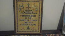 Vintage Framed Sampler Rememorance