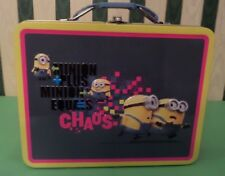 The Tin Box Company Despicable Me Minion Lunch Box Carry All Tin New