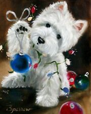 WESTIE CHRISTMAS CHEER GARDEN FLAG FREE SHIP USA RESCUE