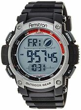 Armitron Men's Black Resin Digital Watch, 100 Meter WR, Chronograph, 40/8252BLK