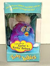 1999 Electronic Furby Babies Blue & Purple Tiger Electronics Toy New in Box