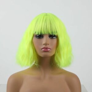 Short Synthetic Hairs Wig Women Heat Resistant Cosplay Wear Wavy Wigs With Bangs