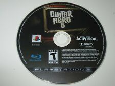 Guitar Hero 5 (Sony PlayStation 3, 2009) Game Disc Only