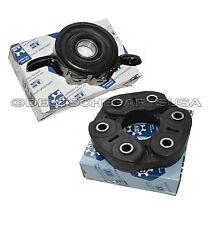 CARDAN DRIVESHAFT CENTER SUPPORT BEARING MOUNT + FLEX DISC for AUDI Q7 SET 2