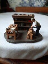 Stevelyn Miniatures  Hand Made Pewter Sculpture ' Carpenter'