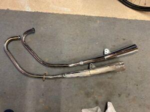 Honda CB250RS Full Exhaust System Chrome