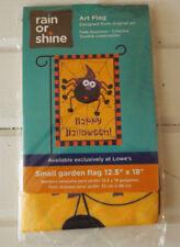 """Spider Web Happy Halloween Garden Flag Porch Flag 12.5"""" X 18"""" - New Sealed"""