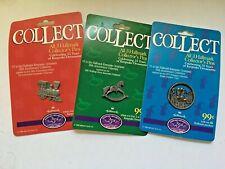 3 Hallmark Collector's Pins 1998 Celebrating 25 years of Keepsake Ornaments '98