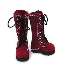 16cm Lati Yellow Basic Bjd Blythe Pullip 1/6 Doll Shoes Long Velvet Boots Red