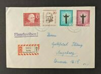 Vintage Berlin Germany Registered Cover to Augsburg