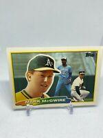 1988 Topps Big Mark McGwire 179 Oakland Athletics MLB Baseball Card Vintage