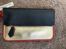 ALBERTA DI CANIO LEATHER WRISTLET NWOT LEATHER ITALY