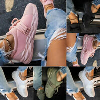 WOMENS LADIES LIGHTWEIGHT LACE UP RUNNING TRAINERS WALKING SNEAKERS CASUAL SHOES