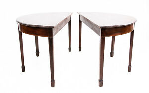 Pair of 19th Century Antique Demi Lune Side Table / Dining Table