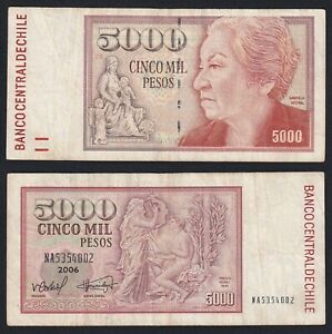 Chile 5000 Pesos 2006 BB / VF C-09