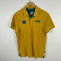 Canterbury Australia Rugby Polo 2015 Mens Large Slim Fit Short Sleeve
