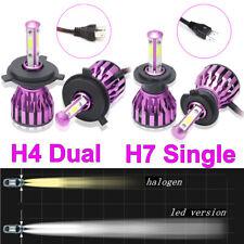 H7 H4 LED Scheinwerfer Kit 1200W Fern- / Abblendlicht COB 6000K VS Xenon Halogen