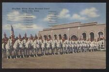Postcard SIOUX CITY Iowa/IA  Masons Masonic Abu-Bekr White Horse Patrol 1930's