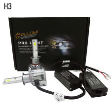 H3 180W 19200lm 2 Sides CSP LED Headlight Kits Low Beam 6000K Bulbs White Lamps