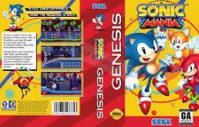 Sonic Mania Sega Genesis NTSC Replacement Box Art Case Insert Cover Scan